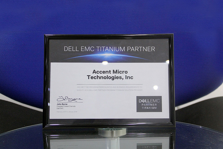 AMTI Hailed as Dell EMC Titanium Partner