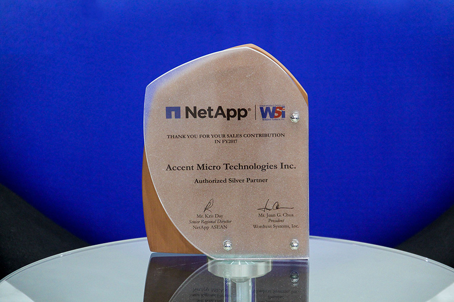 AMTI is NetApp's Authorized Silver Partner for FY2017